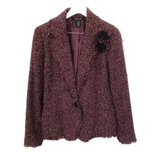 Parisian Signature Tweed Blazer Jacket Size 12